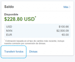 Transferir fondos