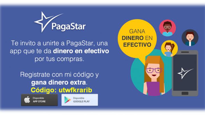 PagaStar una App que te premia con dinero en efectivo.