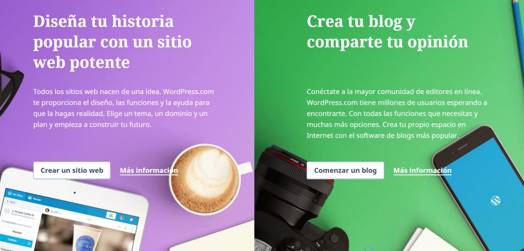 Crear un blog gratuito en wordpress