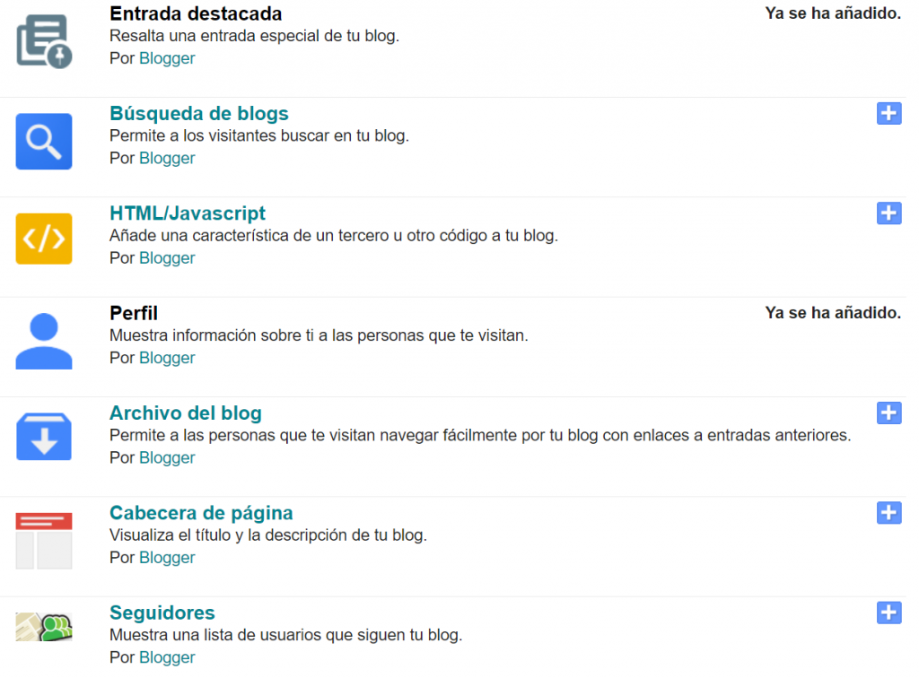 Gadget en blogger