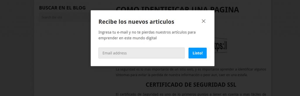 recibir notificaciones por correo