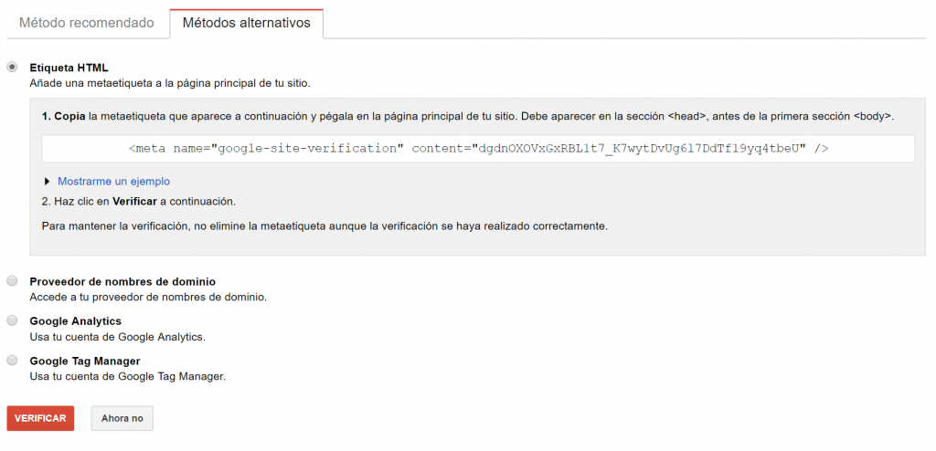 Metodos alternativos google webaster