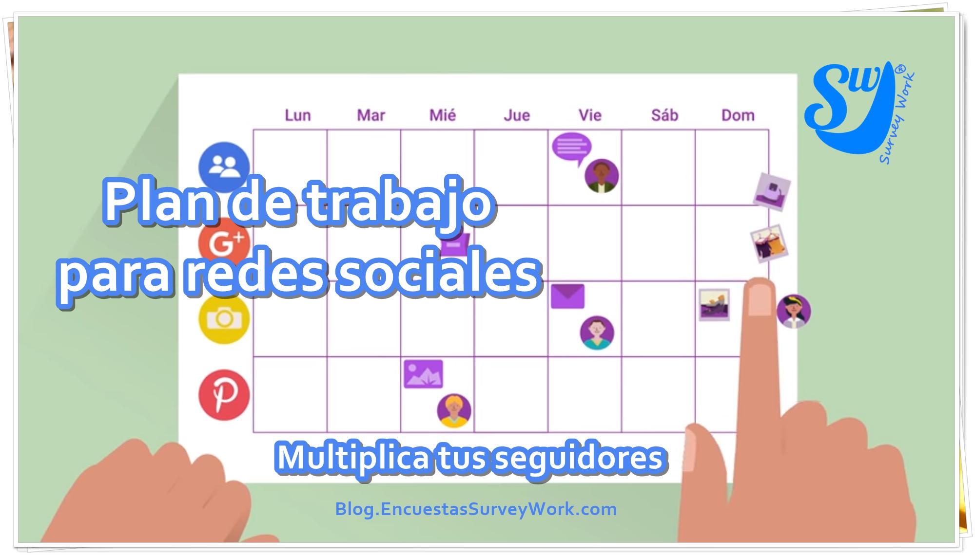 Plan de trabajo para redes sociales