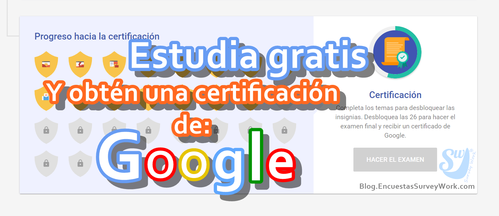 Estudiar gratis y obtener una certificación
