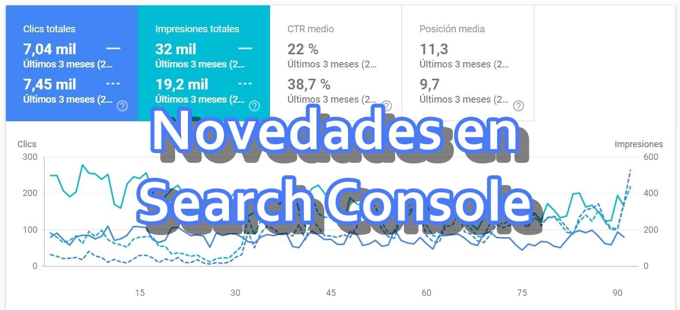Novedades en search console