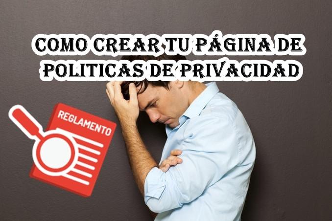 Crear política de privacidad basada en el reglamento (RGPD)